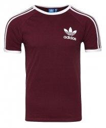 Adidas Originals bordowa koszulka t-shirt męski Clfn Tee BQ7565