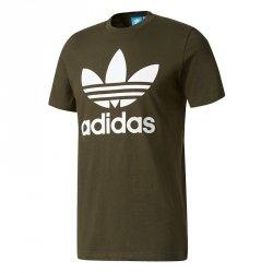 Adidas Originals zielona koszulka t-shirt męski Trefoil BQ5394