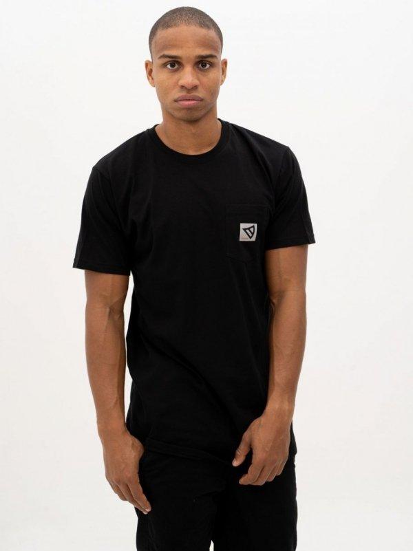 Koszulka Dystrykt Pocket  Czarna/Biała