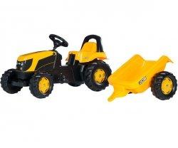 Rolly Toys Traktor na Pedały Kid JCB z Przyczepą