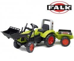 FALK Traktor CLAAS ARION z łyzką i przycz.zielony