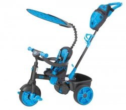 LT Rowerek Trójkołowy 4 w1 Deluxe Ed-Neon Blue