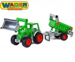 Wader QT Traktor Ładowarka z Naczepą (w siatce)