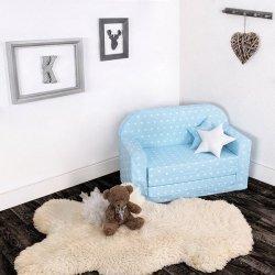 Lulando sofa classic gwiazdki białe na niebieskim tle