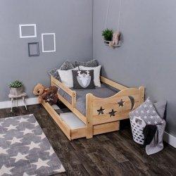 Łóżko dziecięce sosnowe Chrisi kolor sosna 160/80 + Materac