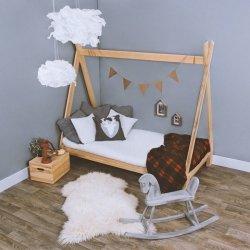Łóżko dziecięce sosnowe Tipi Wigwam 160x80cm