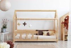 Łóżko dziecięce drewniane DOMEK Mila MBP z barierką różne rozmiary
