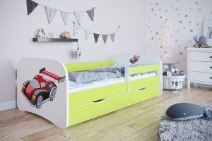 Łóżko dziecięce AUTO WYŚCIGOWE różne kolory 140x70 cm