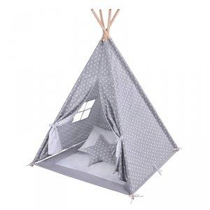 LULANDO Namiot Tipi - Białe gwiazdki + Biały