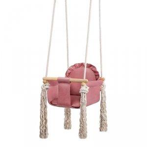 LULANDO Huśtawka dla dzieci Swing Frill - Różowy