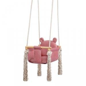 LULANDO Huśtawka dla dzieci Swing Teddy - Różowy