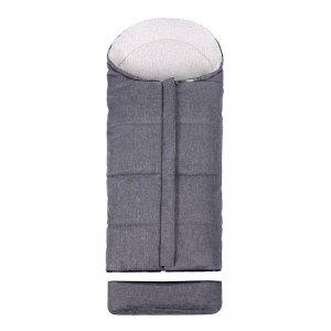 LULANDO Zimowy śpiwór do wózka dla dzieci Pik - Szary melanż