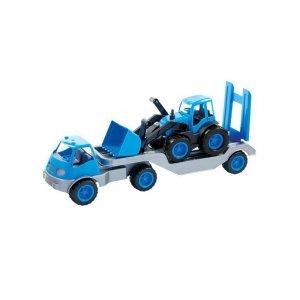 Laweta Ciężarówka Na Gumowych Kołach  MOCHTOYS Niebieski