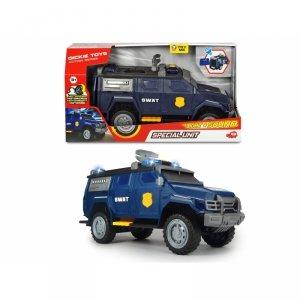 DICKIE A.S. SWAT Pojazd samochód Jednostki Specjalnej  + Policyjny Lizak Gratis!