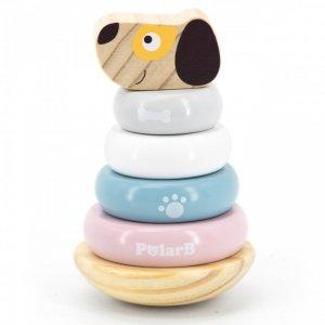 Drewniana Edukacyjna Układanka Wańka wstańka Piesek Viga Toys