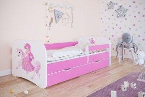 Łóżko dziecięce KSIĘŻNICZKA NA KONIKU różne kolory 140x70 cm
