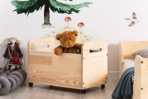 Drewniana skrzynia na zabawki KUTU 2