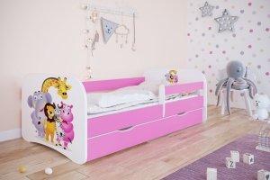 Łóżko dziecięce ZOO różne kolory 160x80 cm