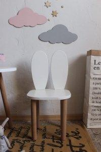 Krzesełko dziecięce królik z uszkami