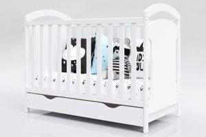 Łóżeczko niemowlęce 2w1 ADAŚ 2 biały 120x60 z szufladą