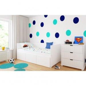 Łóżko dziecięce ANNA z trzema szufladami