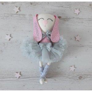 Maskotka personalizowana króliczek baletnica Malinka