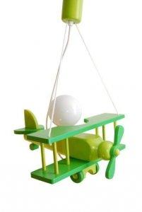 Lampka dziecięca SAMOLOT zielona