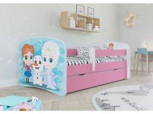 Łóżko dziecięce KRAINA LODU 180x80 różne kolory