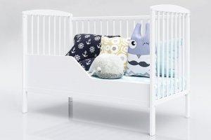 Łóżeczko niemowlęce tapczan 2w1 KACPER biały 120x60