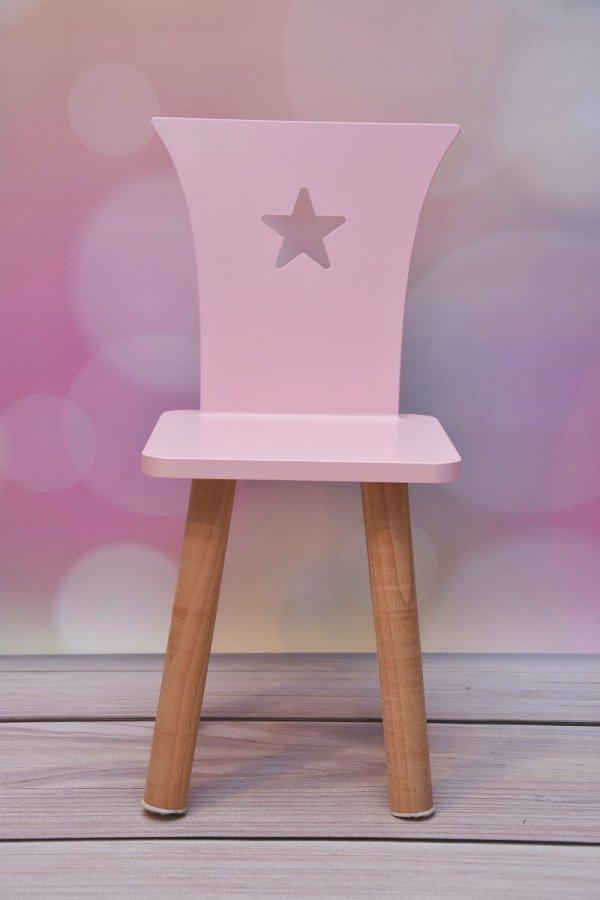Eleganckie krzesełko z gwiazdką