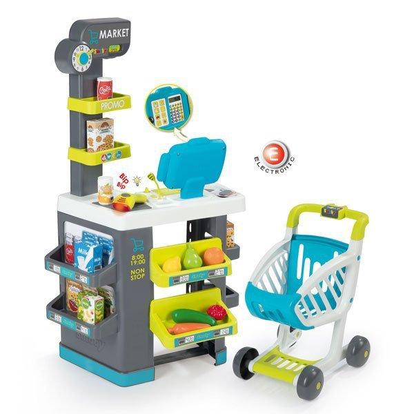 SMOBY Elektroniczny Market Z Wózkiem