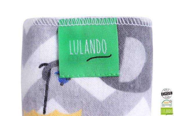 Lulando pieluszki flanelowe 70x80 słonie zółte/żółta/biała 5 szt