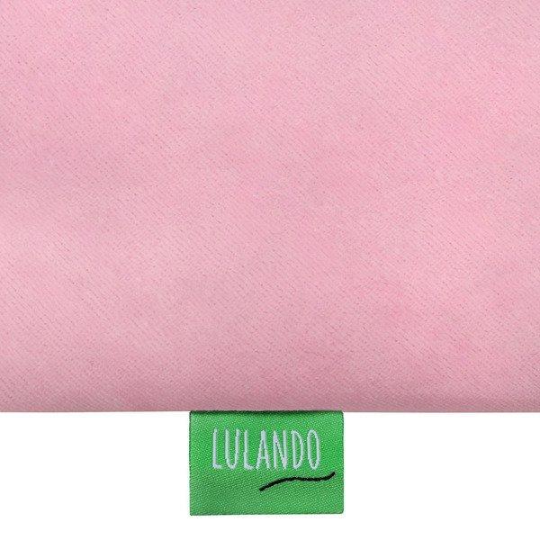 Lulando Otulacz welurowy do nosidła BULI -  różowy - szary w białe gwiazdki