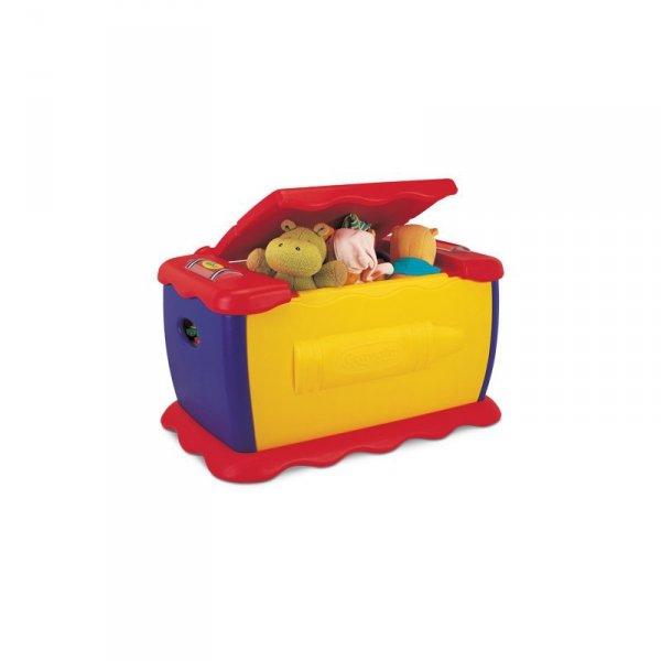 Kolorowa skrzynia na zabawki z tablicą Crayola