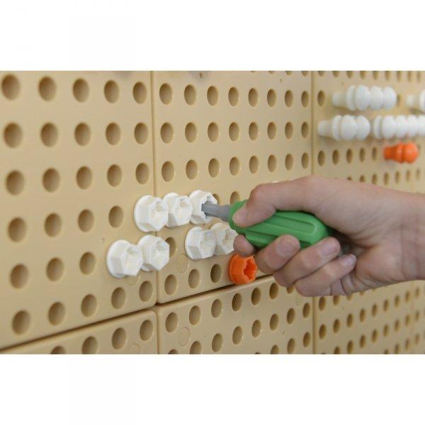 Ręczne Narzędzia 6 Elementów Śrubokręt Klucz - Tablica Naukowo-Edukacyjna Masterkidz STEM