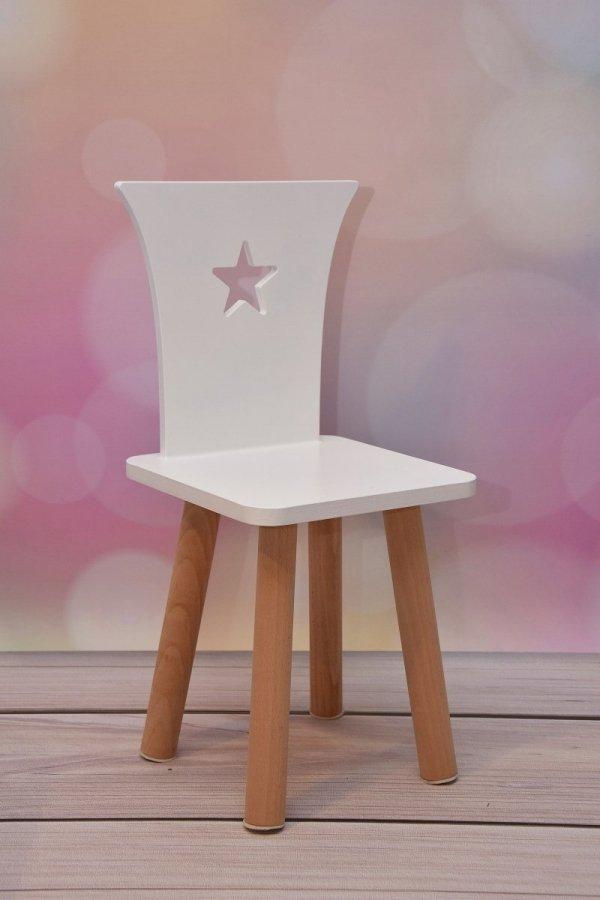 Zestaw stoliczek i 2 krzesełka kolor BIAŁY