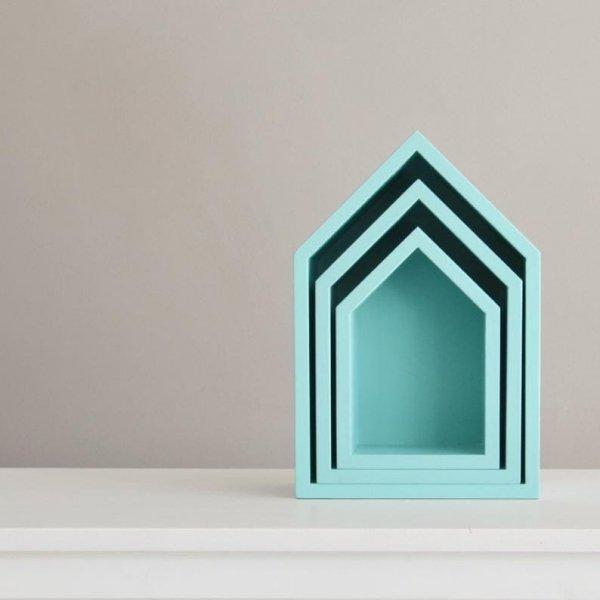 półka-ścienna-domek-niebieska