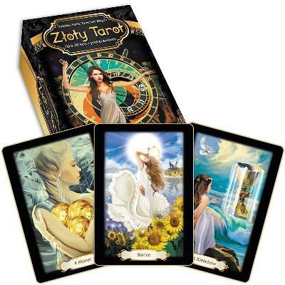 Złoty tarot (karty + książka) Tarocistka Magda Wróżbita Soleil