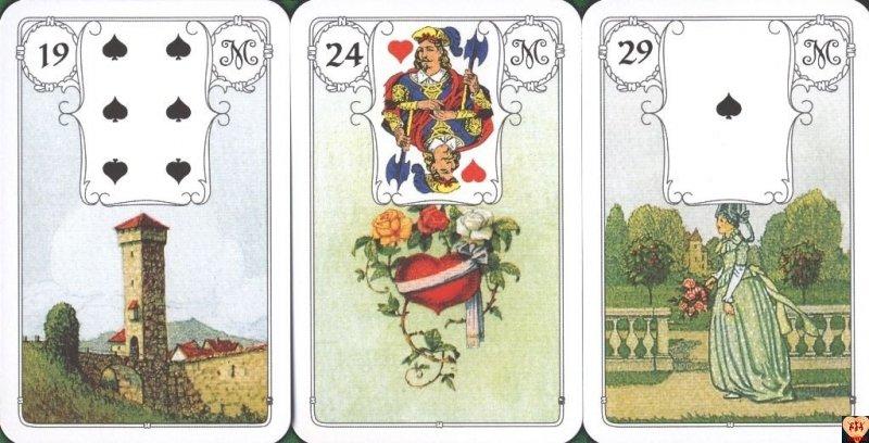 Karty Lenormand z napisami po angielsku (Czerwona Sowa) instr.pl