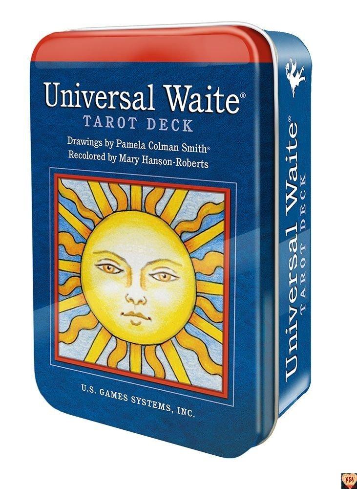 Rider Waite Universal Tarot pocket, w puszce, instrPL