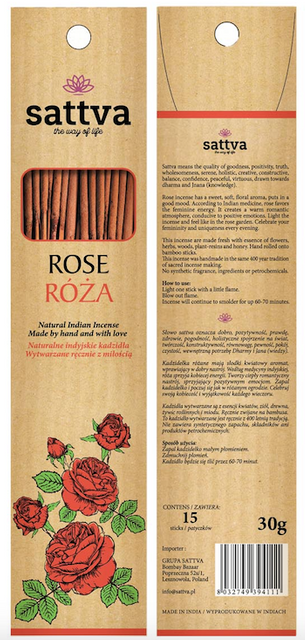 SATTVA INCENSE ROSE 30G ROZA