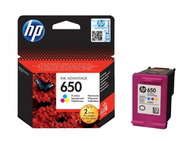 Tusz HP 650 Color Ink Advantage CZ102AE