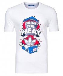 Adidas Originals biała koszulka t-shirt logo Bring The Heat