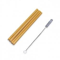 Słomki bambusowe 4 szt.   Czyścik gratis!