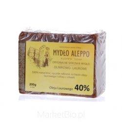 Tradycyjne Syryjskie Mydło Aleppo Olej Laurowy 40% 200 g
