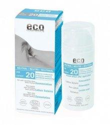 Emulsja na słońce SPF 20 NEUTRAL – bez substancji zapachowych, 100ml, Eco cosmetics