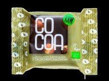 CZEKOLADA CIEMNA 65% Z ORZECHAMI LASKOWYMI BIO 25 g - COCOA