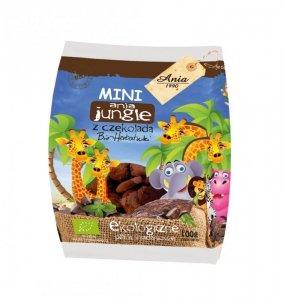 Herbatniki pszenne z czekoladą BIO Mini ZOO 100 g