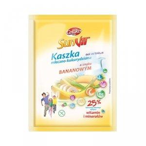 Kaszka mleczno-kukurydziana o smaku bananowym 50 g2szt Celiko