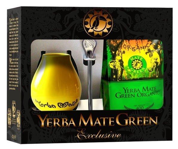 ZESTAW YERBA MATE BIO 400 g, MATERO, BOMBILLA - ORGANIC MATE GREEN